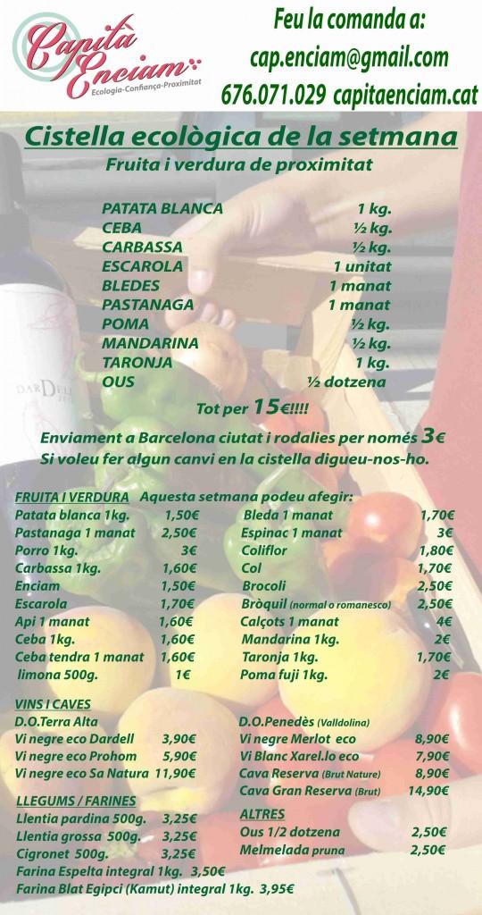 Cistella ecològica 25-01-2014