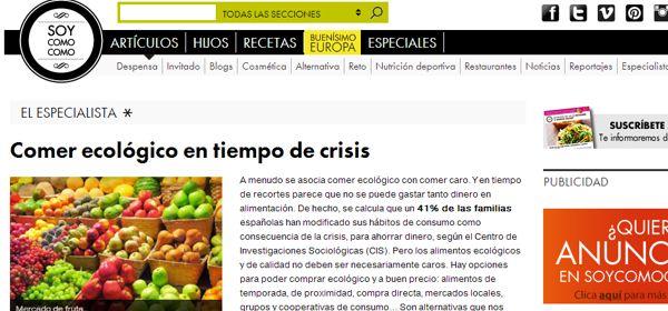 Menjar ecològic en temps de crisi