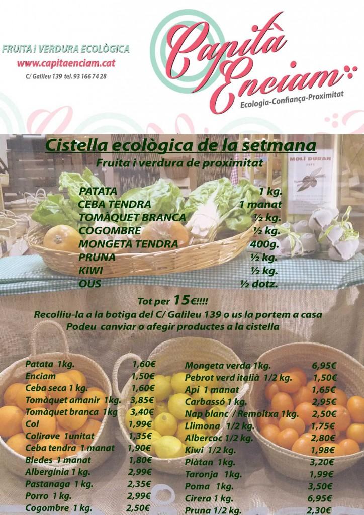 Pruna i cogombre ecològics